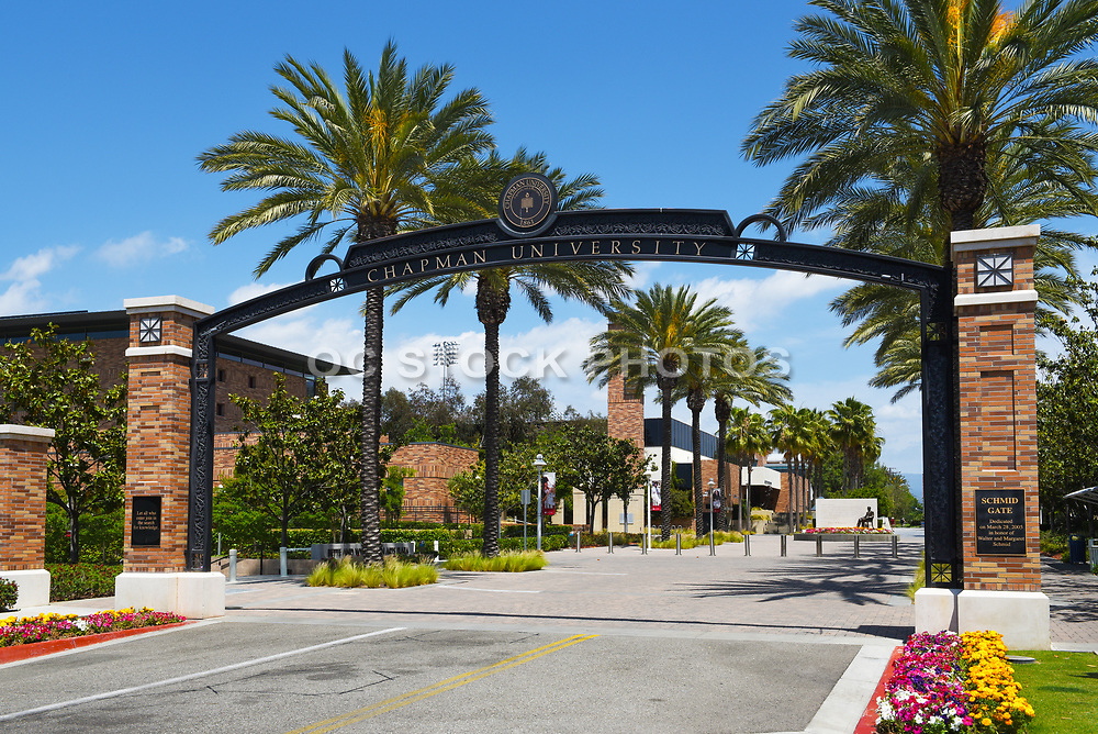 Schmid Gate the Formal Entrance of Chapman University