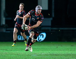 Ollie Griffiths of Dragons<br /> <br /> Photographer Simon King/Replay Images<br /> <br /> Guinness PRO14 Round 10 - Dragons v Leinster - Saturday 1st December 2018 - Rodney Parade - Newport<br /> <br /> World Copyright © Replay Images . All rights reserved. info@replayimages.co.uk - http://replayimages.co.uk