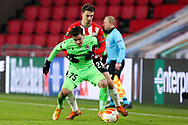 Loizos Loizou of Omonia Nicosia, Olivier Boscagli of PSV Eindhoven during the UEFA Europa League, Group E football match between PSV and Omonia Nicosia on December 10, 2020 at Philips Stadion in Eindhoven, Netherlands - Photo Perry vd Leuvert / Orange Pictures / ProSportsImages / DPPI