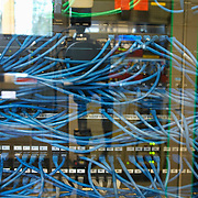 Multiple wires connected to server