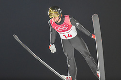 February 10, 2018 - Pyeonchang, Gangwon, South Korea - Sevoie Vincent Descombes ofFrance at mens normal hill final at 2018 Pyeongchang winter olympics at Alpensia Ski Jumping Centre, Pyeongchang, South Korea on February 10, 2018. Ulrik Pedersen/Nurphoto  (Credit Image: © Ulrik Pedersen/NurPhoto via ZUMA Press)