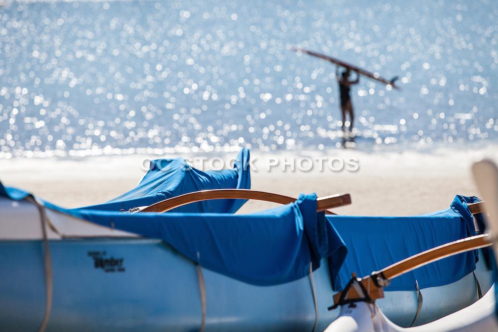 A Surfer at the Marina in Marina Del Rey