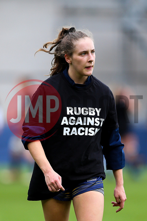 Abi Kershaw of Worcester Warriors Women warming up before kick off - Mandatory by-line: Nick Browning/JMP - 24/10/2020 - RUGBY - Sixways Stadium - Worcester, England - Worcester Warriors Women v Wasps FC Ladies - Allianz Premier 15s