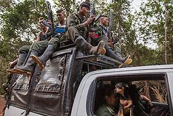 El Diamante, Meta, Colombia - 16.09.2016        <br /> <br /> Guerilla fighters arrive for the 10th conference of the marxist FARC-EP in El Diamante, a Guerilla controlled area in the Colombian district Meta. Few days ahead of the peace contract passing after 52 years of war with the Colombian Governement wants the FARC decide on the 7-days long conferce their transformation into a unarmed political organization. <br /> <br /> Guerilla-Kaempfer treffen bei der zehnten Konferenz der marxistischen FARC-EP in El Diamante an, einem von der Guerilla kontrollierten Gebiet im kolumbianischen Region Meta. Wenige Tage vor der geplanten Verabschiedung eines Friedensvertrags nach 52 Jahren Krieg mit der kolumbianischen Regierung will die FARC auf ihrer sieben taegigen Konferenz die Umwandlung in eine unbewaffneten politischen Organisation beschlieflen. <br />  <br /> Photo: Bjoern Kietzmann