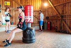 19.06.2017, Powerhof, Adnet, AUT, OeSV, Boxtraining Damen Slalom Team, im Bild Carmen Thalmann (AUT) // during a Boxing Training Camp of the Austrian Ladies Slalom Team at the Powerhof in Adnet, Austria on 2017/06/19. EXPA Pictures © 2017, PhotoCredit: EXPA/ JFK