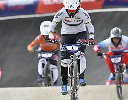11-08-2018 BMX: EUROPEAN CHAMPIONSHIPS BMX CYCLING: GLASGOW<br /> Laura Smulders heeft haar succesjaar een vervolg gegeven bij het Europees kampioenchap BMX. Nadat ze in juni al de wereldtitel veroverde in Bakoe, was Laura ook in de Schotse stad de sterkste. Merel Smulders (NED) volgt haar (links)<br /> <br /> Foto: SCS/Soenar Chamid