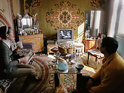 A couple, both teachers, sit in their home in Bulgan town to watch the classic black and white movie called Casablanca on their television.<br /> <br /> Travels in the Gobi desert region.
