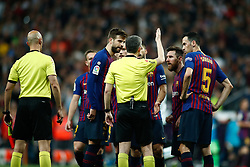 March 2, 2019 - Madrid, MADRID, SPAIN - Lionel (Leo) Messi of FC Barcelona protest during the spanish league, La Liga, football match played between Real Madrid and FC Barcelona at Santiago Bernabeu Stadium in Madrid, Spain, on March 02, 2019. (Credit Image: © AFP7 via ZUMA Wire)
