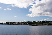 St. Ignace, Michigan, USA, viewed from Lake Huron.