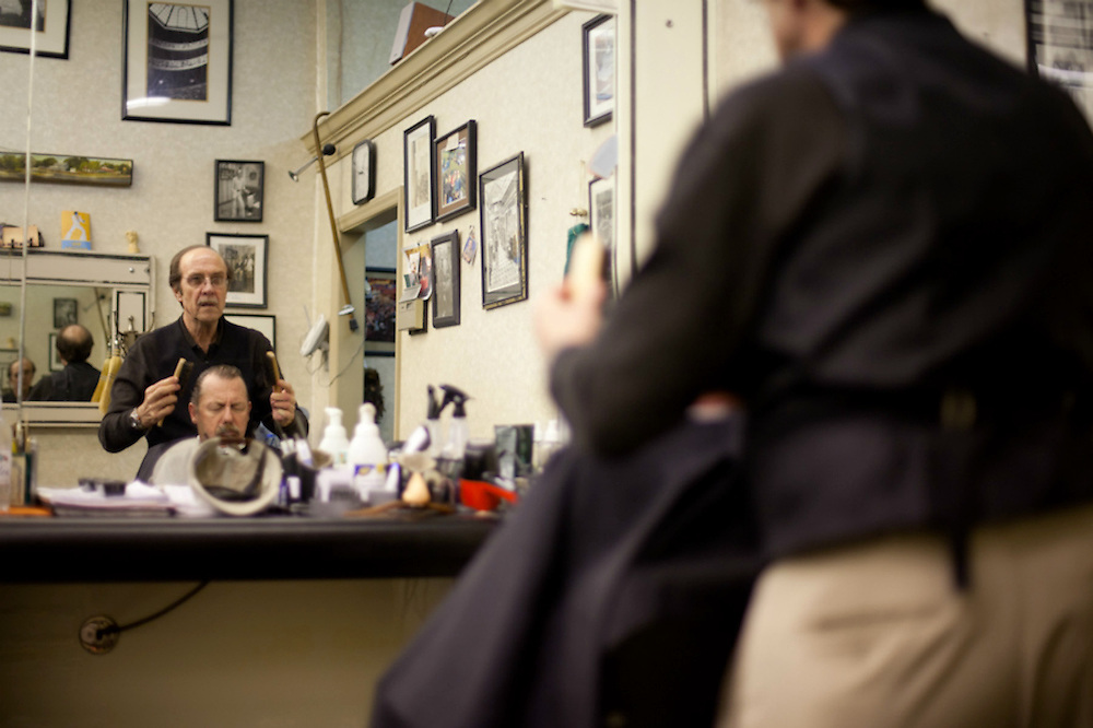 The Latta Arcade Mens Room has been serving up cuts and shaves since the 30's.