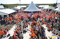 DEN HAAG - WK Hockey. Overzicht van het promodorp voor de wedstrijd van Nederland tegen Zuid Afrika. FOTO KOEN SUYK