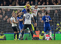 Football - 2016/2017 Premier League - Chelsea V Tottenham Hotspur<br /> <br /> Tottenham pile on the pressure in search of the equaliser as the Chelsea defence stands firm at Stamford Bridge.<br /> <br /> COLORSPORT/DANIEL BEARHAM