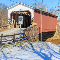 Weaver's Mill Covered Bridge spans the Conestoga River in eastern Lancaster County, PA