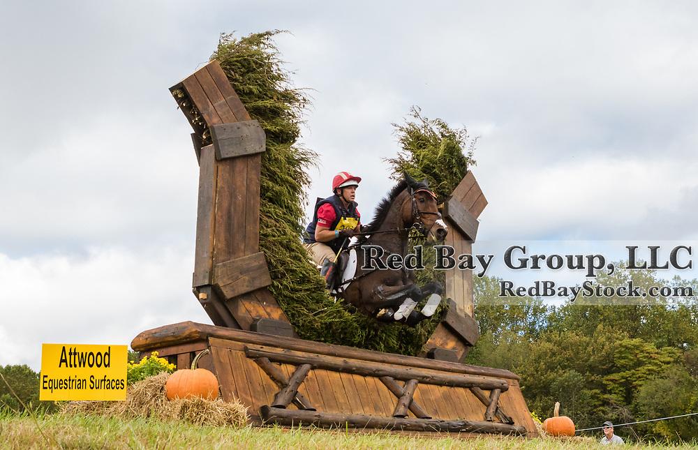 Buck Davidson (USA) and Carlevo at the Dutta Corp Fair Hill International Horse Trials in Elkton, Maryland.