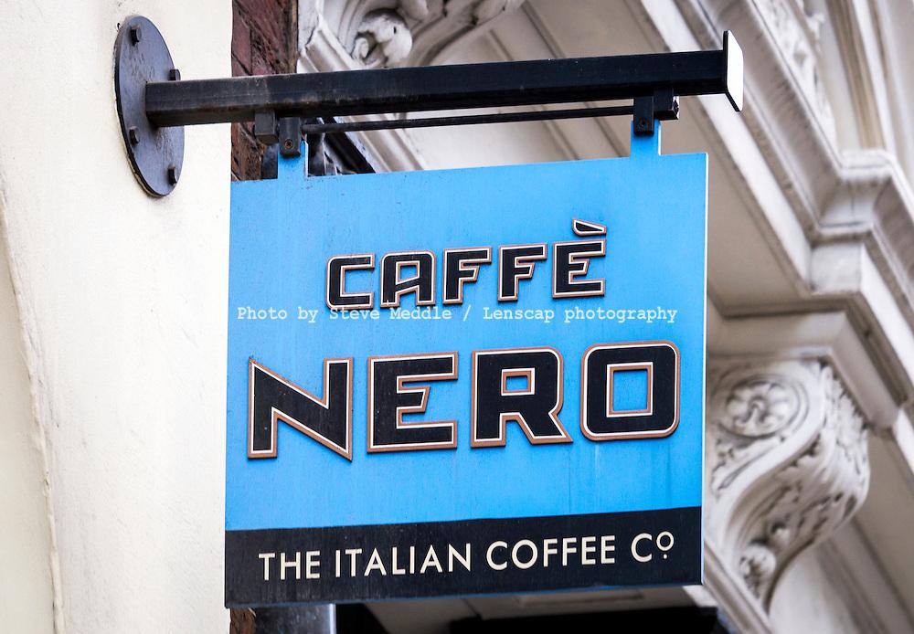 Caffe Nero Coffee Shop Sign - Aug 2013.