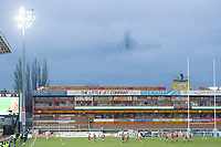 Rugby Union - 2020 / 2021 Gallagher Premiership - Gloucester vs Northampton Saints - Kingsholm<br /> <br /> A murmuration of starlings appear in the skies above the ground.<br /> <br /> COLORSPORT/ASHLEY WESTERN