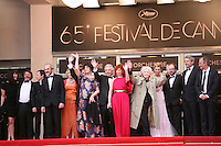 The cast and director arriving at the Vous N'Avez Encore Rien Vu gala screening at the 65th Cannes Film Festival France. Monday 21st May 2012 in Cannes Film Festival, France.