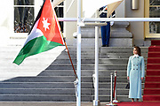 Officieel bezoek Jordanie aan Nederland - Dag 1<br /> <br /> Koning Abdullah II en koningin Rania worden tijdens de welkomstceremonie vergezeld door koning Willem-Alexander en koningin Maxima op Paleis Noordeinde.<br /> <br /> Official visit Jordan to the Netherlands - Day 1<br /> <br /> King Abdullah II and Queen Rania are accompanied during the welcome ceremony by King Willem-Alexander and Queen Maxima at Noordeinde Palace.<br /> <br /> Op de foto / On the photo: K koningin Rania / Queen Rania