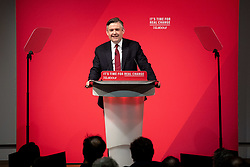 © Licensed to London News Pictures. 13/11/2019. London, UK. Shadow Secretary of State for Health and Social Care John Ashworth MP makes a speech at The Royal Society of Medicine to announce labour's plan for health and the NHS. Photo credit : Tom Nicholson/LNP