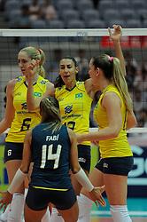 27-08-2010 VOLLEYBAL: WGP FINAL BRAZIL - USA: BEILUN NINGBO<br /> USA beats Brazil in five sets / Sheilla Castro, Thaisa Menezes and Josefa Fabiola de Souza<br /> ©2010-WWW.FOTOHOOGENDOORN.NL