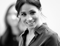 The Duchess of Sussex arriving at the Brighton Royal Pavilion and meet children from Queens Park school as art of their visit to Sussex. Photo credit should read: Doug Peters/EMPICS
