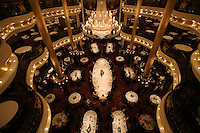 Royal Caribbean International's  Independence of the Seas, the world's largest cruise ship...Onboard feature pictures...Dining room.