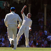 Australian bowler Peter Siddle celebrates after taking the wicket of South African Paul Harris. Siddle finiished with figures of 5-59 during day three of the third test match between Australia and South Africa at the Sydney Cricket Ground on January 5, 2009 in Sydney, Australia. Photo Tim Clayton