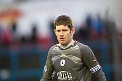 Falkirk's keeper Michael McGovern..Cowdenbeath 4 v 1 Falkirk, 9/2/2013..©Michael Schofield.