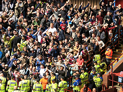 23 April 2017 - EFL Championship Football - Aston Villa v Birmingham City - Aston Villa fans celebrate the win - Photo: Paul Roberts / Offside