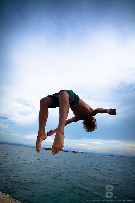 Diving and backflips into the waters around the San Blas Islands on the Carribean side of Panama.