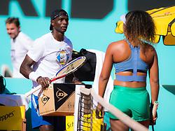 May 4, 2019 - Madrid, MADRID, SPAIN - Jermaine Jenkins during practice with Naomi Osaka at the 2019 Mutua Madrid Open WTA Premier Mandatory tennis tournament (Credit Image: © AFP7 via ZUMA Wire)