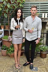 Lucy Watson and Fraser Olender at The Ivy Chelsea Garden's Annual Summer Garden Party, The Ivy Chelsea Garden, 197 King's Road, London England. 9 May 2017.<br /> Photo by Dominic O'Neill/SilverHub 0203 174 1069 sales@silverhubmedia.com