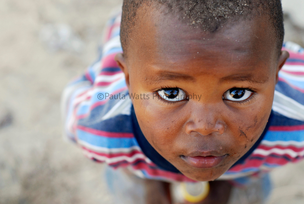 Young South African child with beautiful eyes
