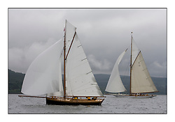 Ayrshire Lass 1887 Gaff Cutter and The Lady Anne 1912 a 15 metre...Sunday race from Largs to Rhu started damp but briefly lifted for a downwind race to the upper Clyde...* The Fife Yachts are one of the world's most prestigious group of Classic .yachts and this will be the third private regatta following the success of the 98, .and 03 events.  .A pilgrimage to their birthplace of these historic yachts, the 'Stradivarius' of .sail, from Scotland's pre-eminent yacht designer and builder, William Fife III, .on the Clyde 20th -27th June.   . ..More information is available on the website: www.fiferegatta.com . .Press office contact: 01475 689100         Lynda Melvin or Paul Jeffes