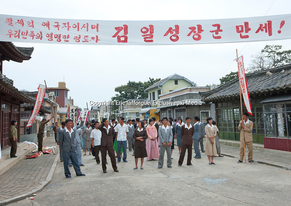 """Making movies in North Korea<br /> The films Kim Jong-Un DOES approve of... but would you want to watch Urban Girl Comes To Get Married or The Bloodstained Route Map?<br /> <br /> Kim Jong Il was a huge fan of cinema and so the people of North Korea have become avid moviegoers. The deceased Dear Leader had a certain respect for this medium, allegedly calling it the """"most powerful for educating the masses"""".<br /> <br /> He went as far as to write an essay called """"Theory of Cinematic Art"""" in which he explains that """"it is cinema's duty to turn people into true communists"""".  For him, film was """"a means of eradicating capitalist elements"""". It is in fact an effective means of diffusing propaganda, especially towards the youth. That is why there is a state-run movie studio in Pyongyang.<br /> <br />  <br /> <br /> Kim Jong Il was said to have thousands of films in his personal library and to have 7 theaters built exclusively for him in Pyongyang. Apart from the main studio (Korean Film Studio), other studios have been built in the periphery of the capital. <br /> <br /> Kim Jong Il apparently shot a movie about the founder of North Korea, his father Kim Il-Sung, and proclaimed himself a """"genius of cinema""""!<br /> <br /> He even had famous South Korean director, Shin Sang-Ok, and his wife kidnapped in 1978 by the North Korean secret service. He then ordered the famous director from South Korea to make movies for him, providing him with all the money he needed to produce them. He directed more than 20 movies, many of them propaganda. The director was then jailed for having tried to escape. They couple finally managed to successfully flee in 1986. The following year, the Pyongyang Film Festival of Non-Aligned and Other Developing Countries began. Facing a lack of participating countries, it opened later to """"aligned countries"""" like France, Germany and Great Britain.<br /> <br />  <br /> <br /> Famous actors are depicted on murals around the capitol and even on official currency."""