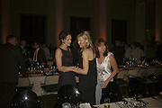 Saffron Aldridge and Kim Hersov, VIP opening of Bill Viola exhibition Love/Death: The Tristan project. Haunch of Venison, St Olave's College, Tooley St. London and Dinner afterwards at Banqueting House. Whitehall. 19 June 2006. ONE TIME USE ONLY - DO NOT ARCHIVE  © Copyright Photograph by Dafydd Jones 66 Stockwell Park Rd. London SW9 0DA Tel 020 7733 0108 www.dafjones.com