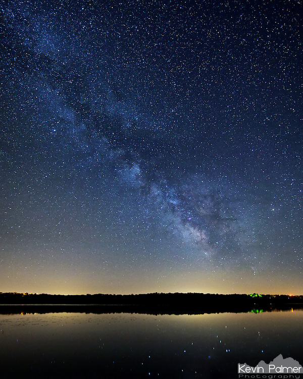 The brightest parts of the milky way are reflected in the calm waters of Spring Lake. It was a bit chilly on this night in mid-May, but the sky was perfectly clear which was great for seeing the milky way.<br /> <br /> Date Taken: May 13, 2013