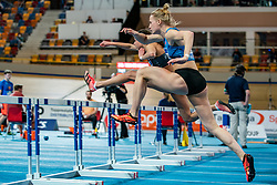 Anouk Vetter in action on the 60 meter hurdles during AA Drink Dutch Athletics Championship Indoor on 21 February 2021 in Apeldoorn.