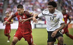 June 8, 2017 - Commerce City, Colorado, United States - Commerce City, CO - Thursday June 08, 2017: Clint Dempsey and Mekeil Williams during their 2018 FIFA World Cup Qualifying Final Round match versus Trinidad & Tobago at Dick's Sporting Goods Park. (Credit Image: © John Todd/ISIPhotos via ZUMA Wire)