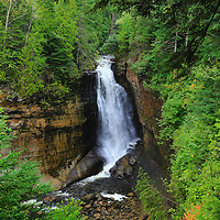 """""""Miners Falls"""" 2<br /> <br /> Scenic Miners Falls in Pictured Rocks National Lakeshore near Munising Michigan!!<br /> <br /> Waterfalls by Rachel Cohen"""