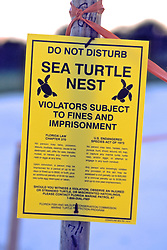 Sea Turtle Nest Sign
