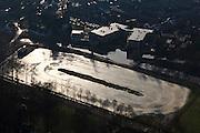 Nederland, Utrecht, Bunnik 10-01-2011;.IJsbaan in Bunnik langs het jaagpad van de rivier de Kromme Rijn. Ice rink in Bunnik along the towpath of the river Kromme Rijn..luchtfoto (toeslag), aerial photo (additional fee required).foto/photo Siebe Swart