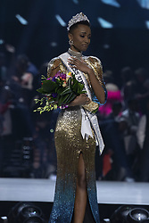 December 8, 2019, Atlanta, Georgia, USA: Zozibini Tunzi, Miss South Africa 2019 is crowned Miss Universe at the conclusion of The MISS UNIVERSE® Competition on FOX at 7:00 PM ET on Sunday, December 8, 2019 live from Tyler Perry Studios in Atlanta. The new winner will move to New York City where she will live during her reign and become a spokesperson for various causes alongside The Miss Universe Organization. ALEX MERTZ/HO/PI (Credit Image: © Prensa Internacional via ZUMA Wire)