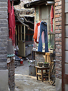 small restricted living quarters in the inner city Beijing China