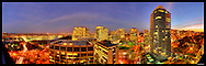 Panorama of Rosslyn, VA with view of Key Bridge and Georgetown.  Image Captured 2011.<br /> Print Size (in inches): 15x5; 24x7.5; 36x11.5; 48x15.5; 60x19; 72x23