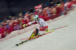 "29.01.2019, Planai, Schladming, AUT, FIS Weltcup Ski Alpin, Slalom, Herren, 2. Lauf, im Bild Daniel Yule (SUI) // Daniel Yule of Switzerland in action his 2nd run of men's Slalom ""the Nightrace"" of FIS ski alpine world cup at the Planai in Schladming, Austria on 2019/01/29. EXPA Pictures © 2019, PhotoCredit: EXPA/ Dominik Angerer"