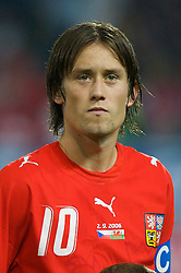 TEPLICE, CZECH REPUBLIC - SATURDAY, SEPTEMBER 2nd , 2006: Czech Republic's Tomas Rosicky during the opening UEFA Euro 2008 Group D qualifying match against Wales at the Na Stinadlech Stadium. (Pic by David Rawcliffe/Propaganda)