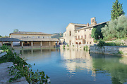 Hot springs, Bagno Vignoni, Val d'Orcia, Tuscany, Italy
