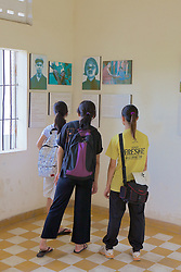 Students At Tuol Sleng Genocide Museum