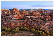 First light of day at The Grand Staircase Escalante region of southern Utah, Grand Staircase Escalante National Monument, USA